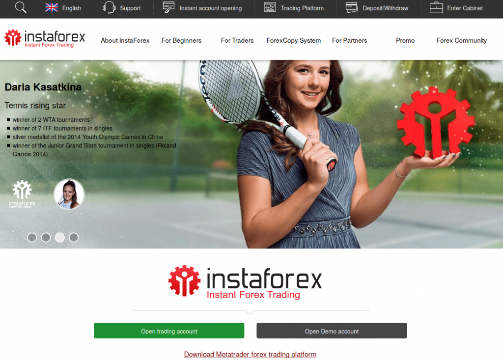 Instaforex | website screenshot | broker review | Financial Fraud Lawyer