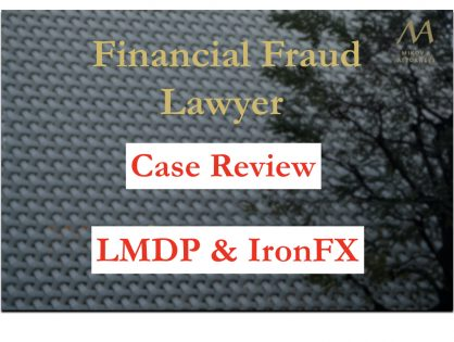 An illegal scheme of trading between La Maison du Placement and IronFX?