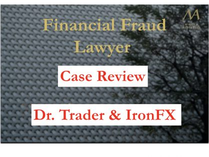 A group of victims against the scheme of Dr. Trader and IronFX