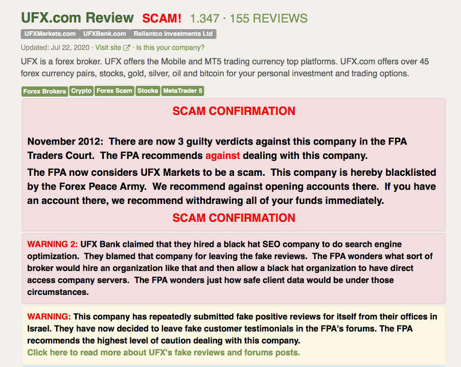 ufx review | page ufx review from fpa – screen capture de UFX review - mikov & attorneys - financial fraud lawyer