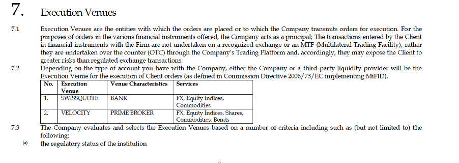 NessFx Review   Order Execution Policy - screen capture from NessFx Order Execution Policy, https://www.nessfx.com /, June 25, 2020 Mikov & attorneys   Financial Fraud Lawyer