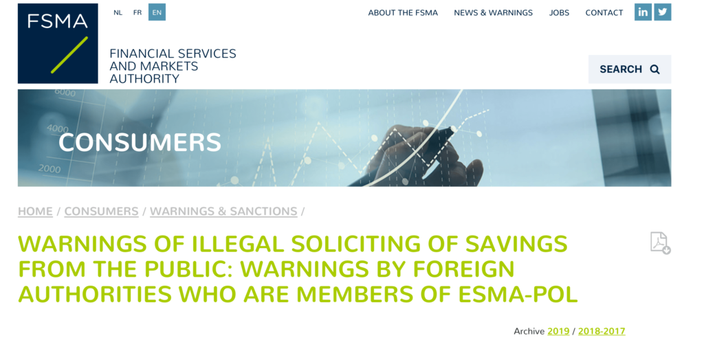 fxpace review | belgium financial services and markets authority fsma issues warning on salvax limited| financial fraud lawyer | mikov & attorneys |